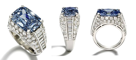 Worlds Most Expensive Engagement Ring: Blue Diamond