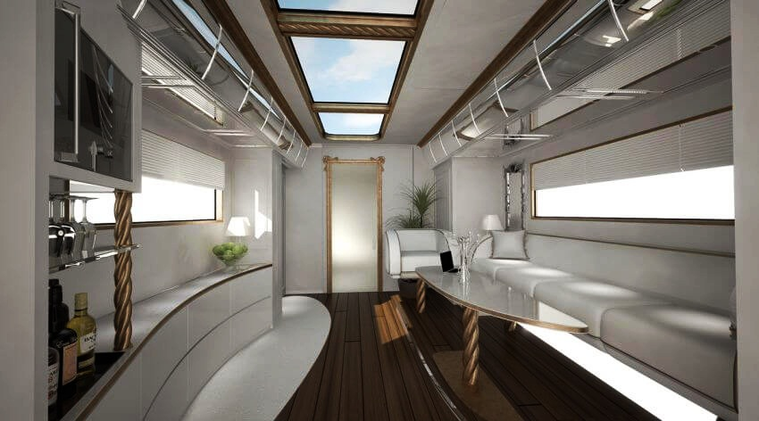 Most expensive motor home in the world elemment palazzo for Camping car de luxe avec piscine