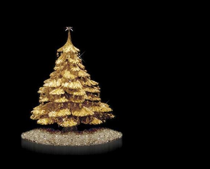Decorated Tabletop Christmas Tree