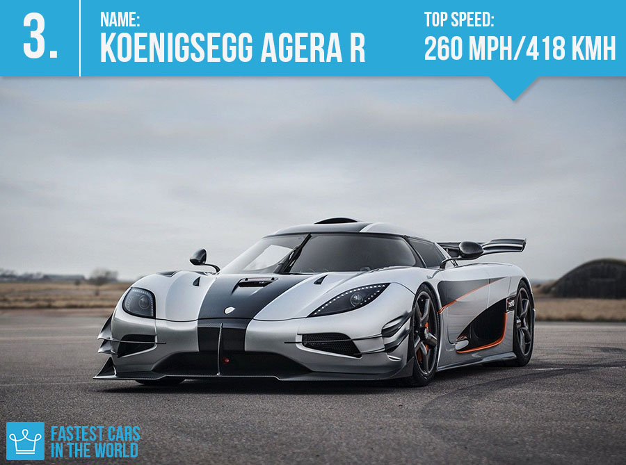 fastest cars in the world 2016 koenigsegg agera r top speed