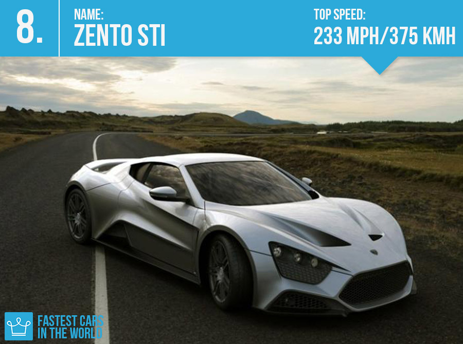 fastest cars in the world 2016 zento sti top speed price specs