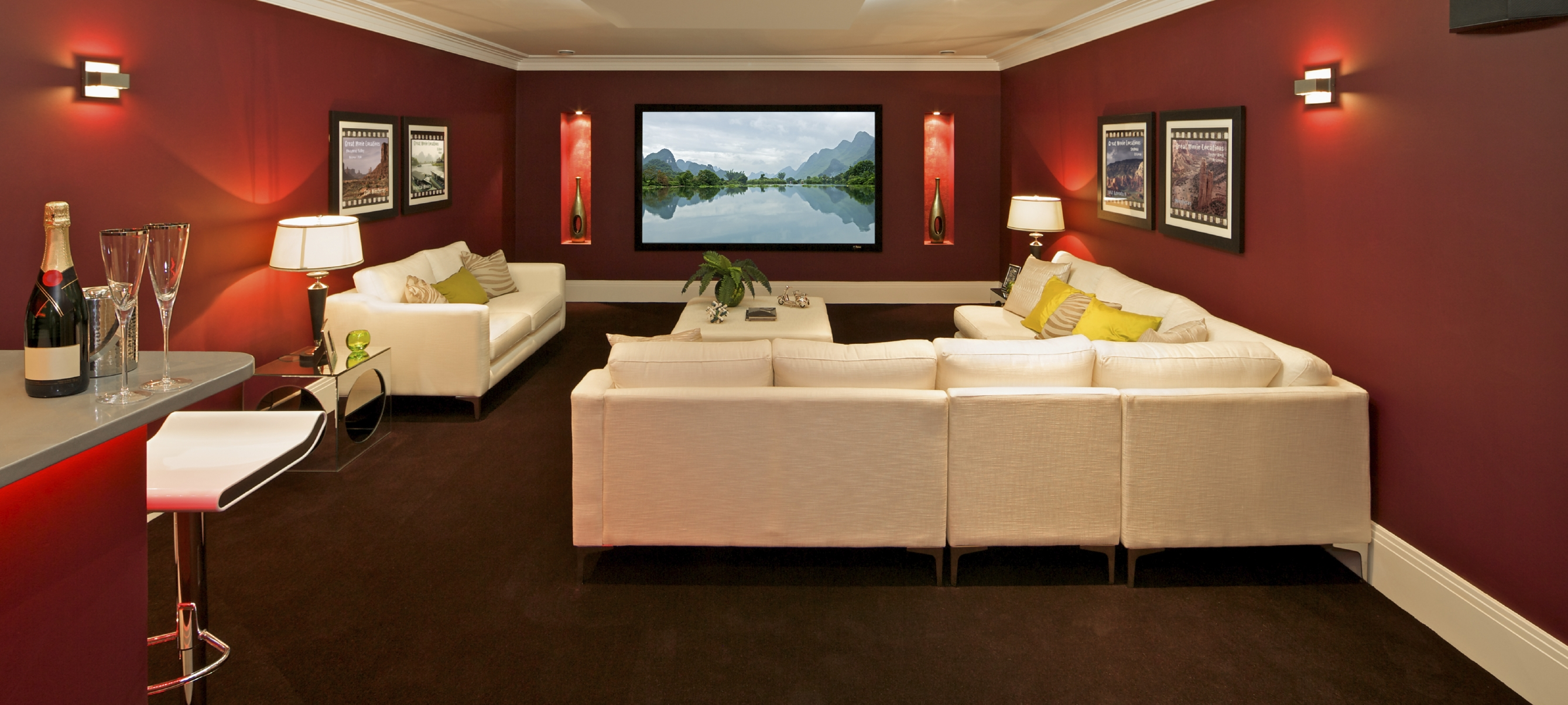 Basement home theater design ideas for your modern home Theater rooms design ideas