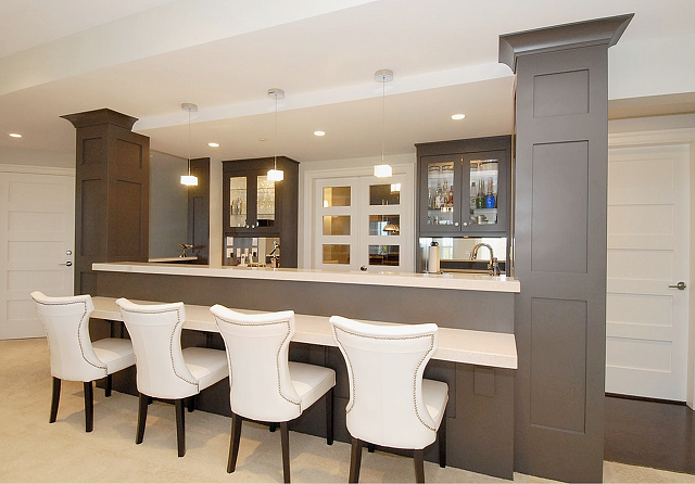 Luxurious home bar design ideas for a modern home - Bar counter designs for home ...