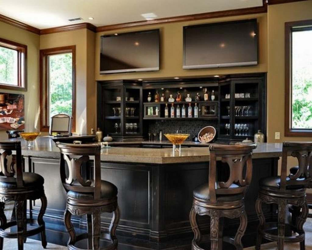 Luxurious home bar design ideas for a modern home for Home bar basement design ideas