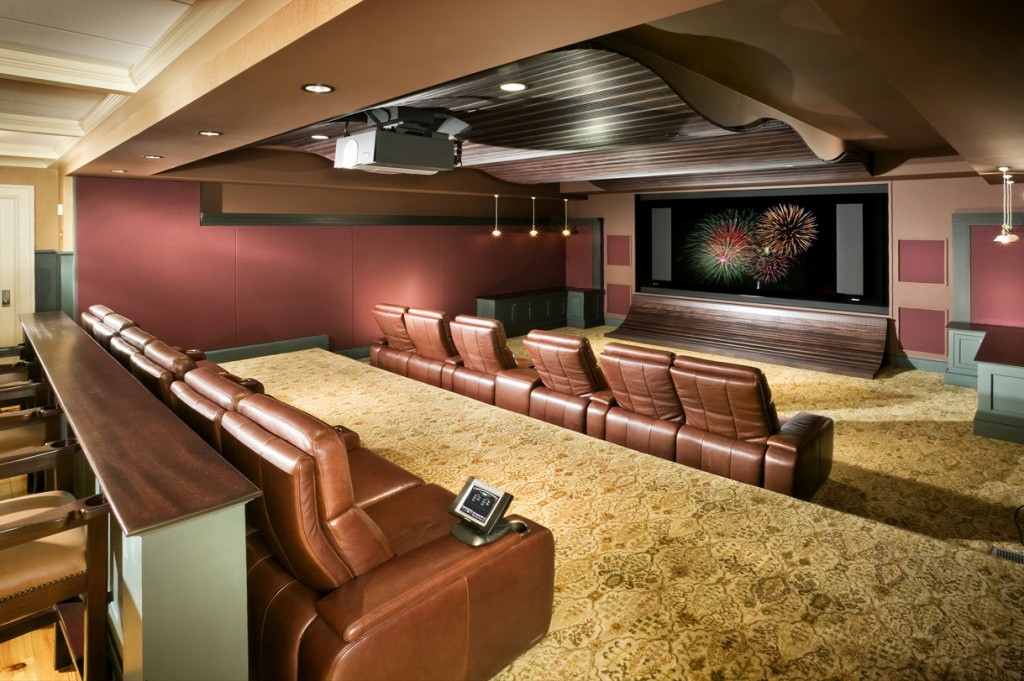Basement home theater design ideas for your modern home for Basement home theater plans