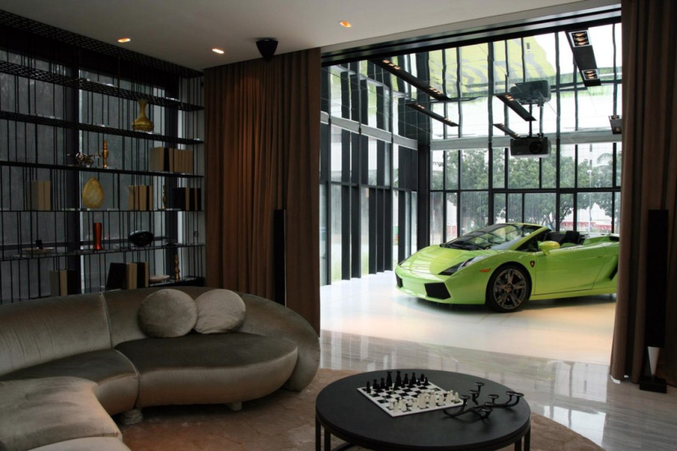 These 20 luxurious garages are perfect for a supercar for Living room garage