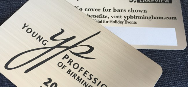 Brush Finish Stainless Steel VIP CARDS