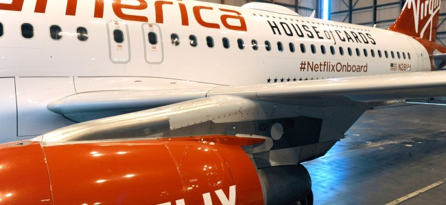 Netflix Teams Up with Virgin America to Offer Free In-Flight Streaming