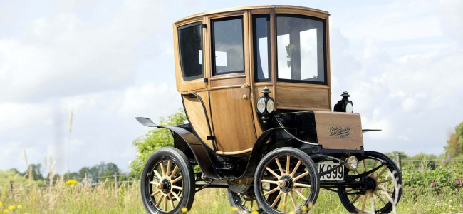 A 110 Year Old Queen Victoria Brougham Electric Car Sells for $95,000 at Auction