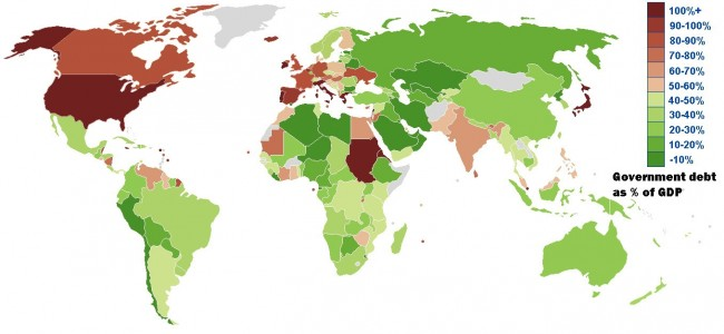 Top 10 List of Countries with Debt Deficit