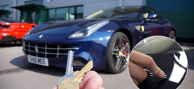 Watching This Guy Key His Ferrari FF Makes All Aluxers Cringe