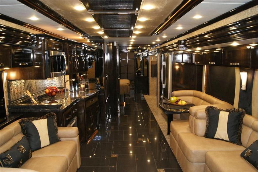 Luxury buses that redefine luxury travel for the rich for Million dollar motor coaches