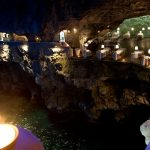 A Tranquil Italian Restaurant Tucked into a Vaulted Sea Cave