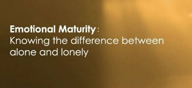 Emotional maturity is when: