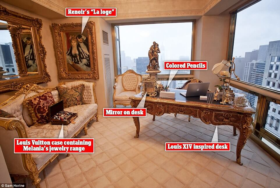 Take a look inside at president trump s 100 million penthouse