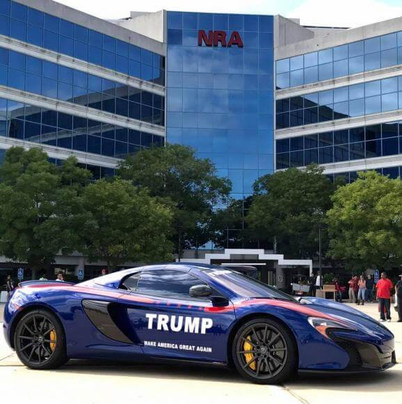 This $300k McLaren 650s Was Torched For Supporting Trump