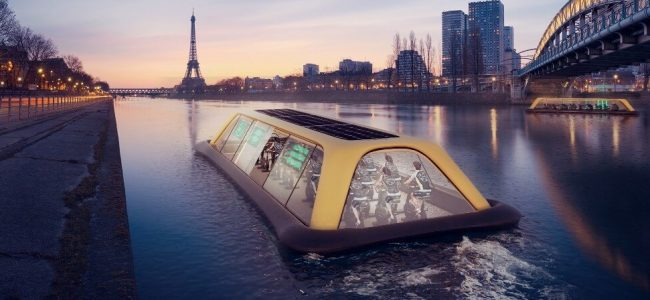 This Paris Gym Boat Will Be Powered by Human Energy to be Able to Cruise along Seine River