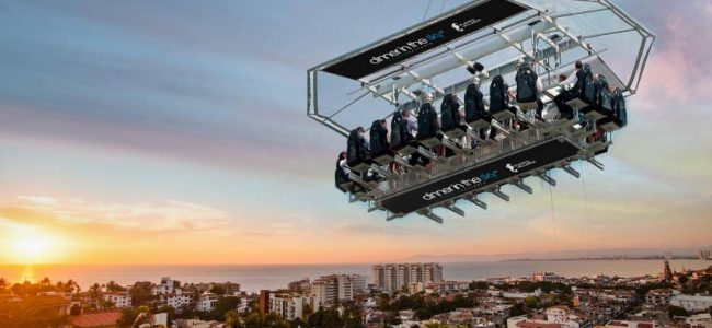 You Can Have Dinner in the Sky at Puerto Vallarta in Mexico!