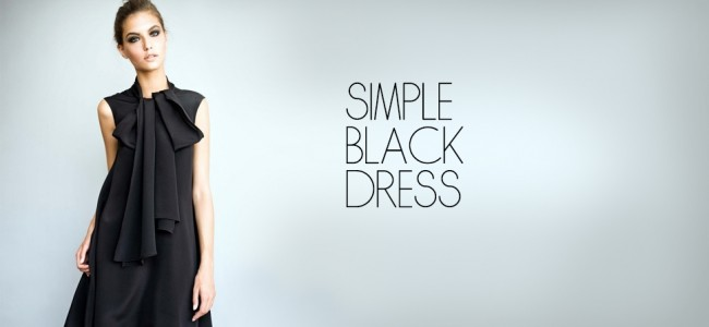 Simple Black Dress Trends 2013