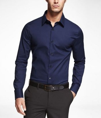 MARINE 1MX EXTRA SLIM FIT FRENCH CUFF SHIRT