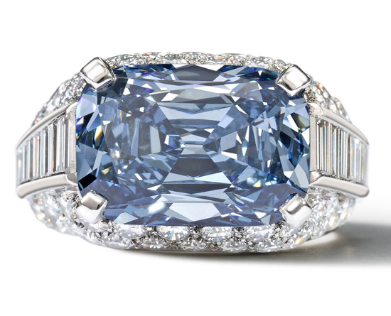 Worlds Most Expensive Engagement Ring Blue Diamond 2013
