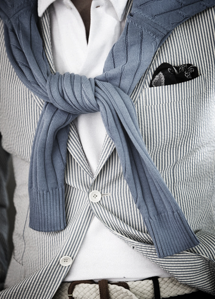 Men's Summer Suits 2013: Blazers & Jackets | White Blazer with Stripes