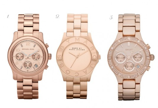 Hottest Watches For Women 2013 Rose-Gold-Watches-534x368