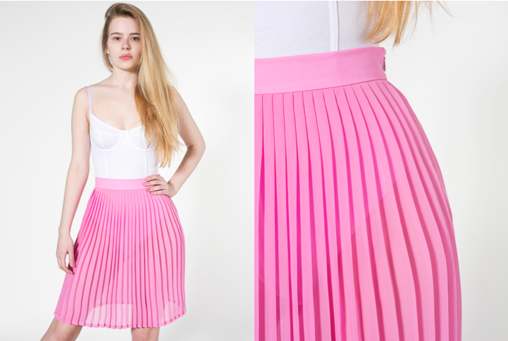 Summer Skirts for Women | Women Style ideas and inspiration outfits with pictures chiffon pleated skirt