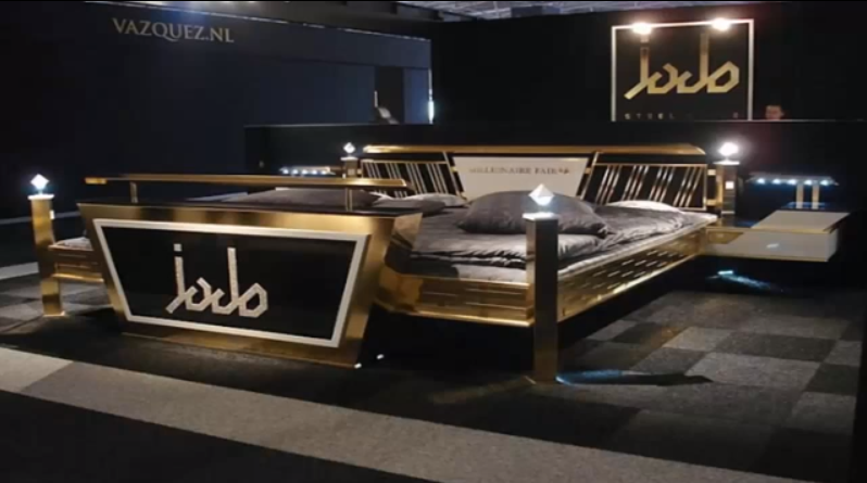 Most Expensive Beds In The World: #3 Jado Steel Style Gold Bed ~ Price: $676,550