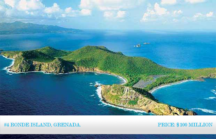 World's Most Expensive Islands 2013: #4 Ronde Island, Grenada. ~ Price: $100 million