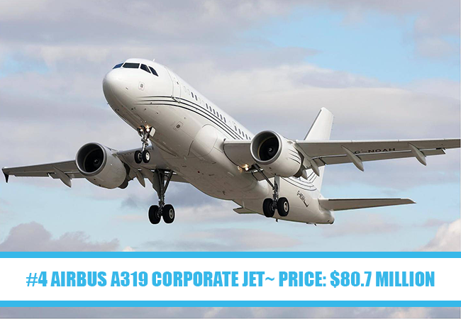 World's Most Expensive Private Jets: #4 Airbus A319 Corporate Jet~ Price: $80.7 million