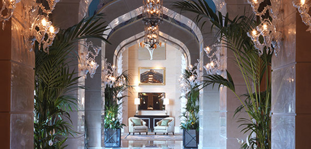 Corridor in the Royal Bridge Suite, Atlantis The Palm, Dubai