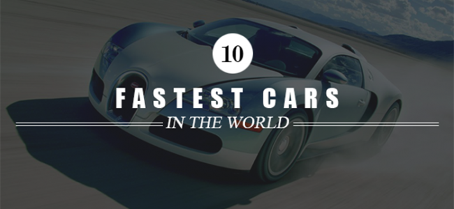 fastest cars in the world 2016 top 10