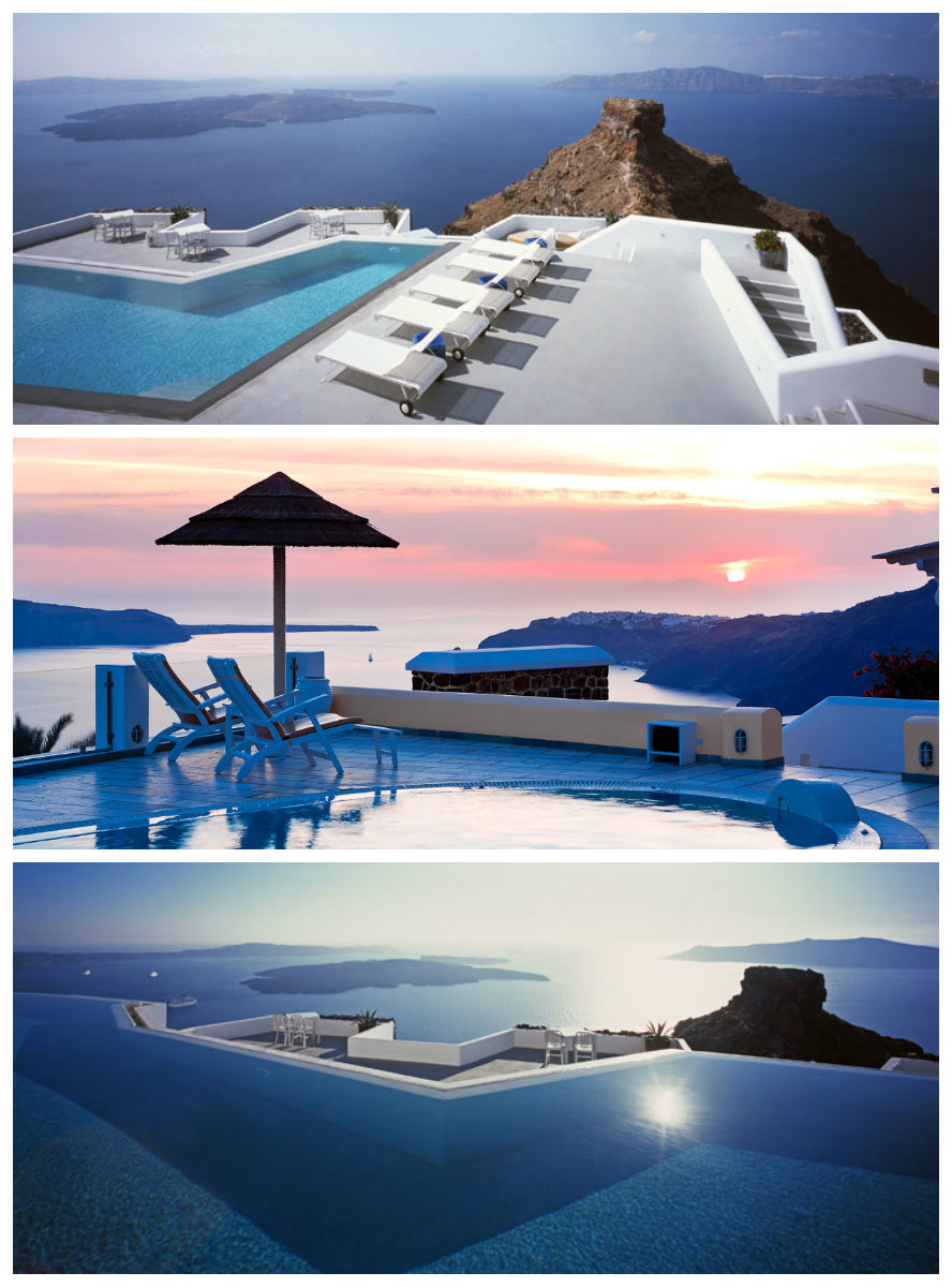 santoriniiiii Luxury Swimming Pools Around The World