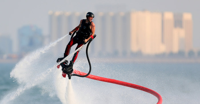 Flyboarding around the world