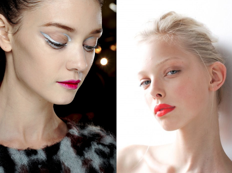 bright pink peach lips Make Up Trends Fall Winter 2013