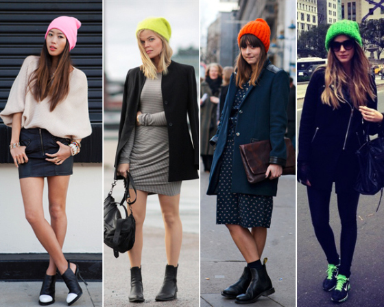 cocokelley-neon-beanie-street-style1Fall Winter 2013 Trends | Must haves