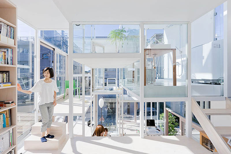 fully-transparent-house-tokyo-japan-sou-fujimoto-architects-Most Unusual Homes In The World