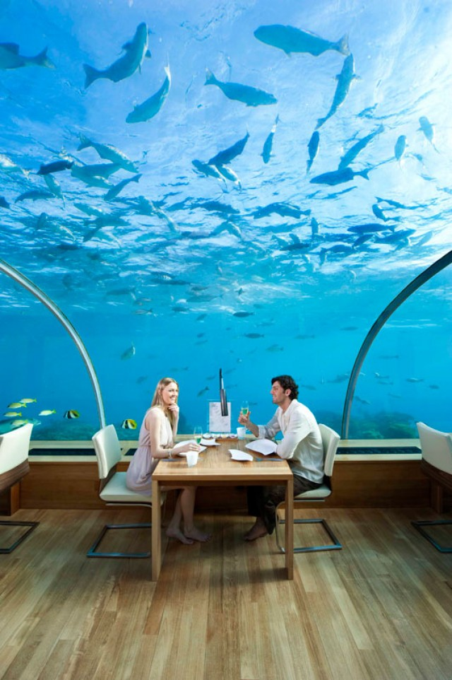 Most Expensive Restaurants In The World: 3. Ithaa, Maldives - $300