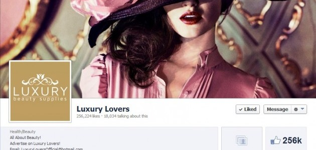 Most Luxurious Facebook Pages 2013