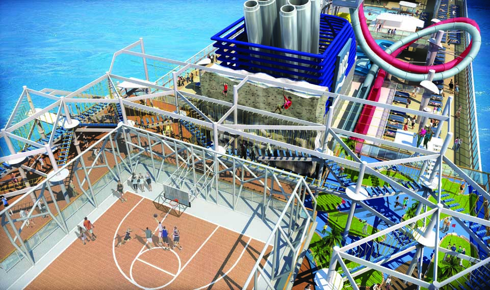 Most Luxurious Cruise Ships:  Norwegian Breakaway Sports Complex