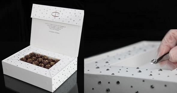 Most Expensive Chocolate in the World: #5 Amedei Toscano Black Truffles in Swarovski Chocolate Box ~ $294