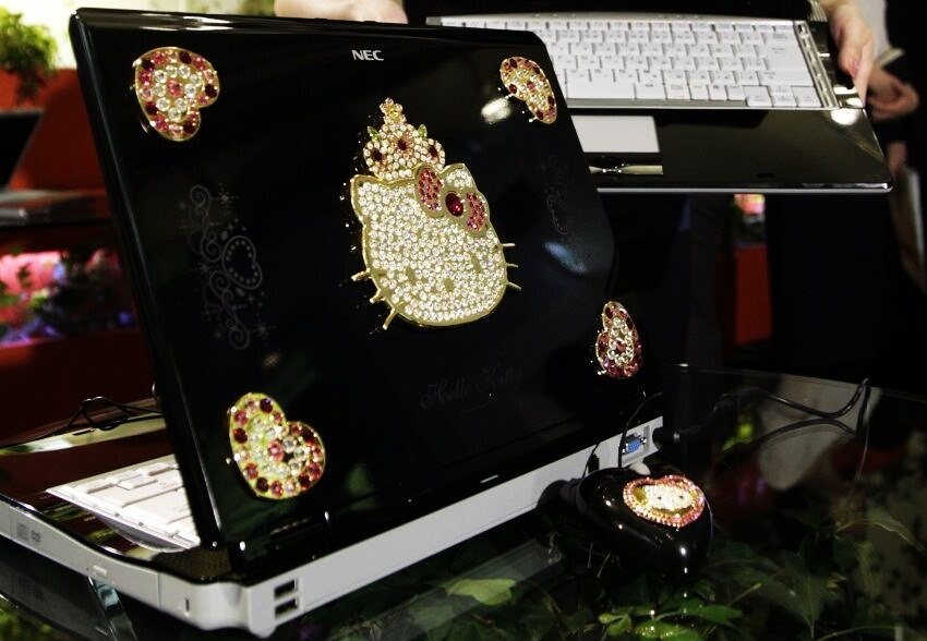 #10 Hello Kitty LaVie G Laptop - Price $1.825  These Are the Most Expensive Hello Kitty Items in the World via kittyhell.com