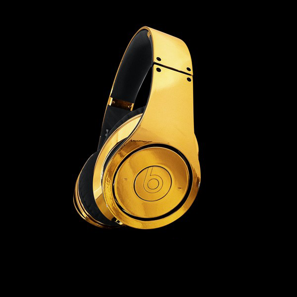 Most Expensive Beats By Dre Headphones: 3. Crystal Rocked 24ct Gold Plated Beats by Dre - $2350