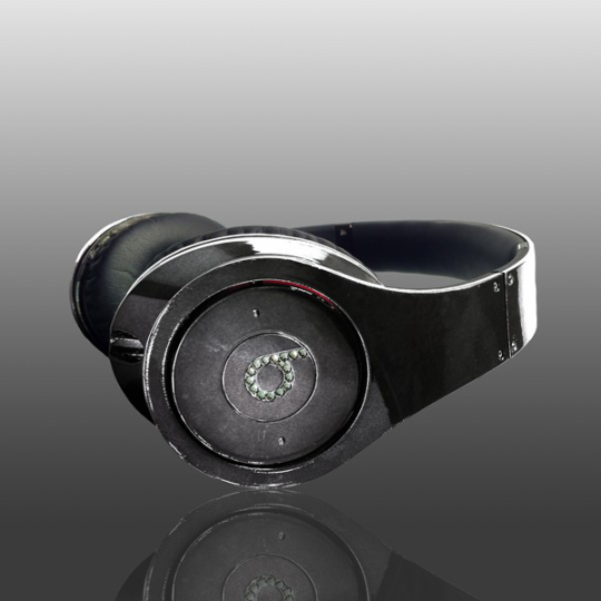 Most Expensive Beats By Dre Headphones: <b>Crystal Rocked Black Chrome Studio Beats By Dre</b>
