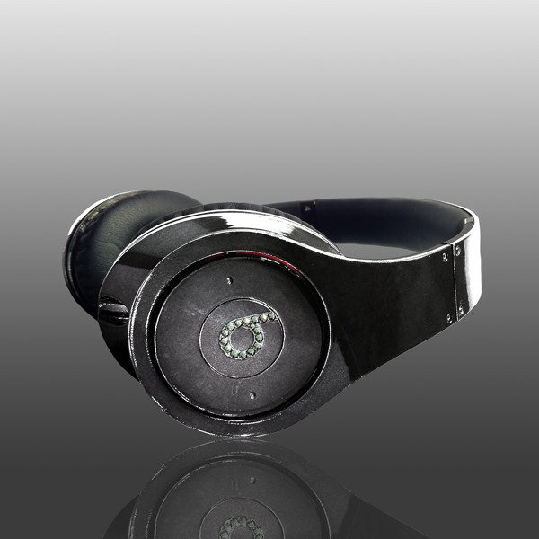 Most Expensive Beats By Dre Headphones:  4. Crystal Rocked Black Chrome Studio Beats By Dre - $1575
