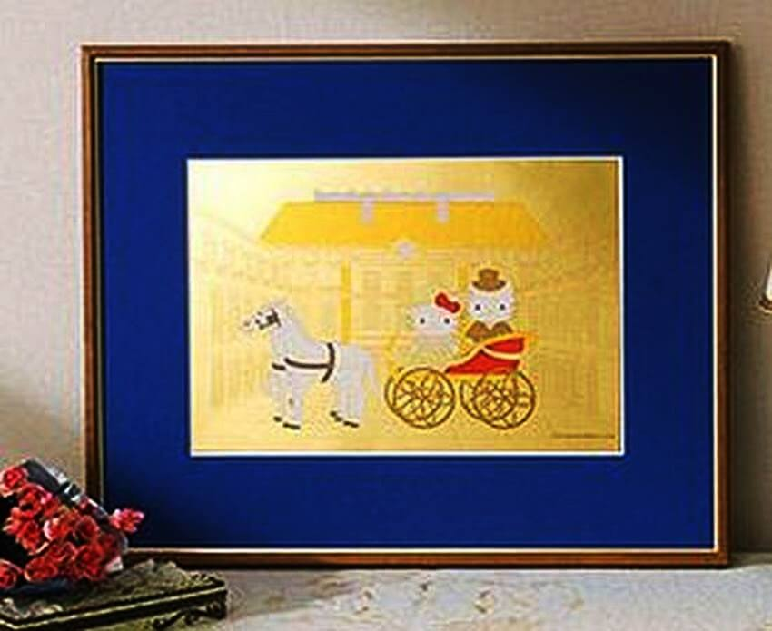 #9 Hello Kitty Pure Gold Art - Price $2.900  These Are the Most Expensive Hello Kitty Items in the World via bornrich.com