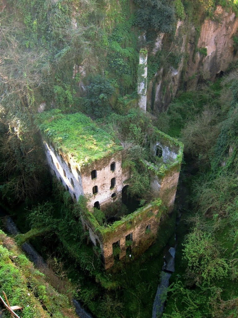 Amazing Abandoned Places Around the World - Part3: Abandoned mill from 1866 in Sorrento, Italy