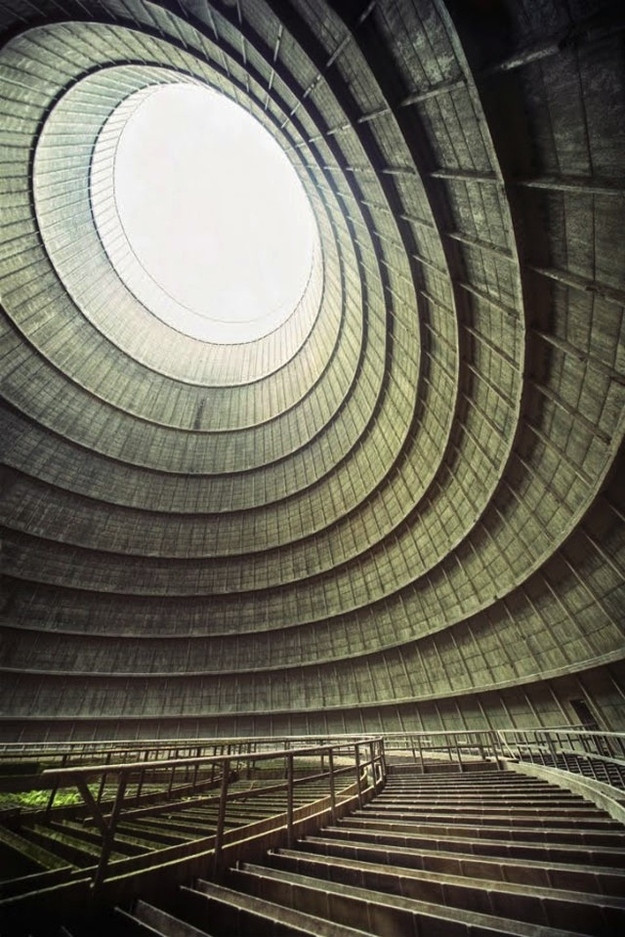 Amazing Abandoned Places Around the World - Part3: Cooling tower of an abandoned power plant