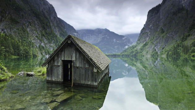 Amazing Abandoned Places Around the World: Fishing hut on a lake in Germany